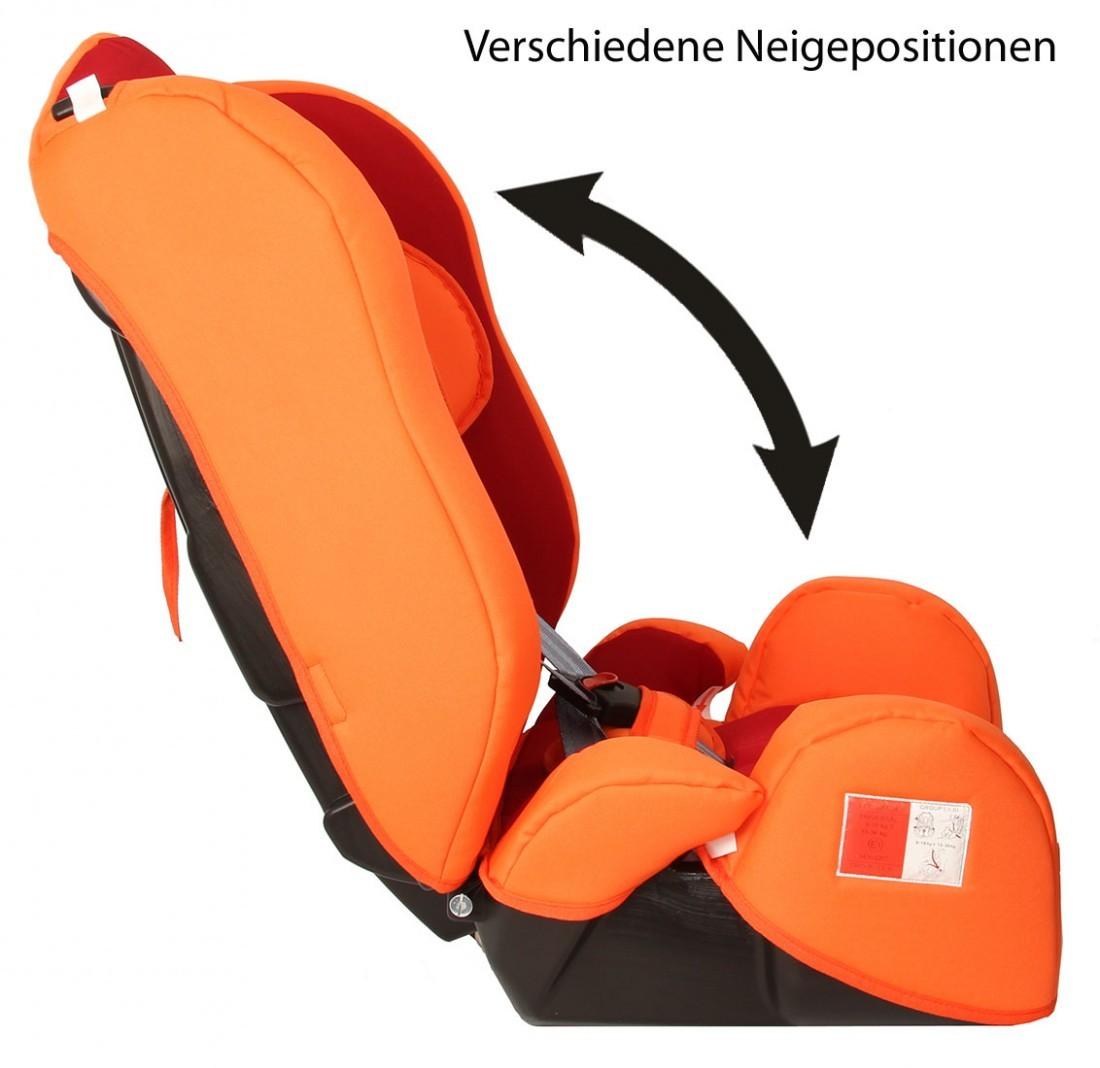 autokindersitz kidstar von united kids po red orange sonderpreis gruppe i ii iii 9 36 kg. Black Bedroom Furniture Sets. Home Design Ideas