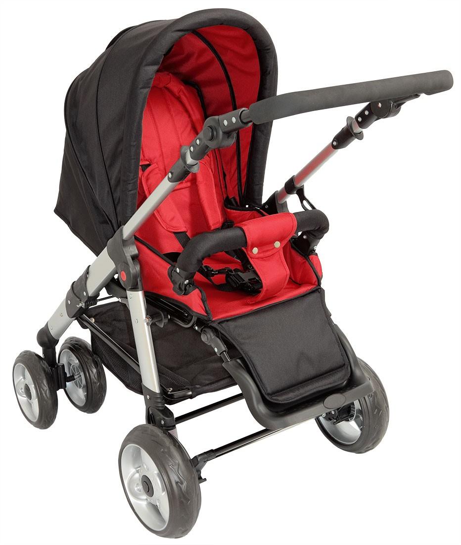 sportwagen kinderwagen qx 519 von united kids black red 16kg. Black Bedroom Furniture Sets. Home Design Ideas
