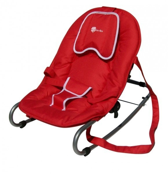 Babywippe / Schaukelliege A603 von UNITED-KIDS, Rot